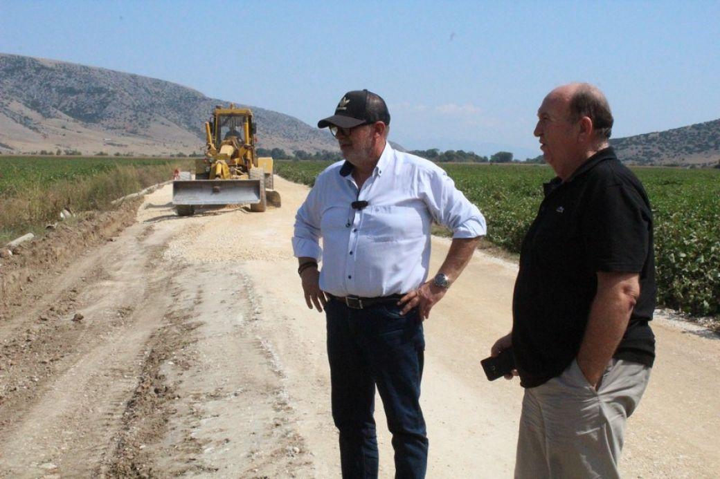 Αυτοψία Αγναντή-Γεωργολόπουλου στα έργα ασφαλτόστρωσης αγροτικών δρόμων στο Ζάρκο και το Κεραμίδι