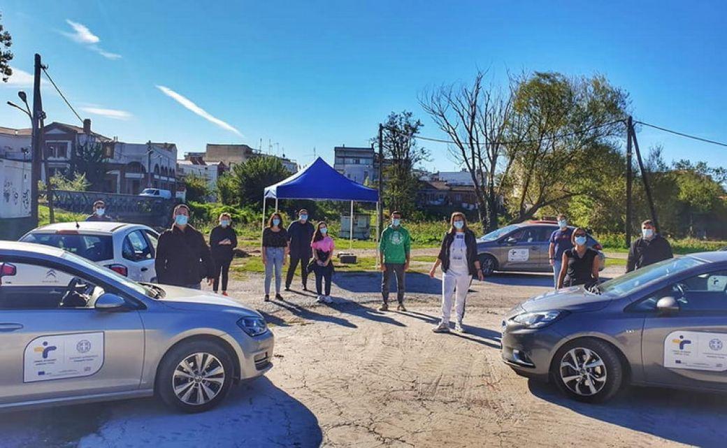 Τεστ για Covid-19 σε μαθητές στο πάρκο Ματσόπουλου
